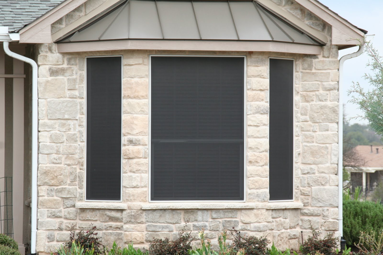 solar screen bay window